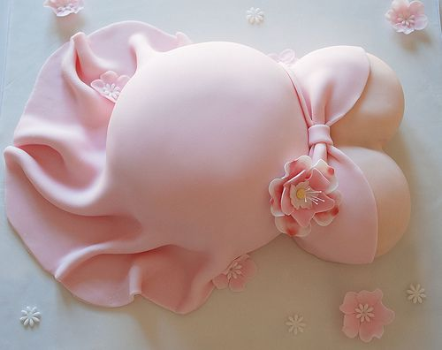 baby shower belly cake by www.lucys-cakes.com, via Flickr
