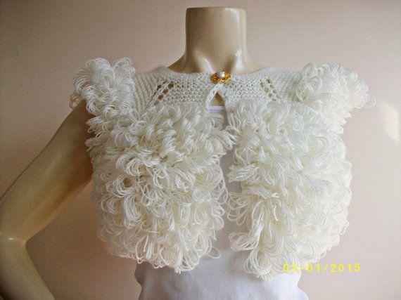 Ivory Bridal Bolero /Fringe Wedding Wrap Shrug by dreamhouse1