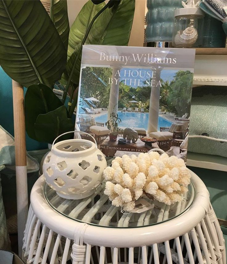 Saturday night reading with Bunny Williams Home and our White Side Table at Brentwood Interiors.