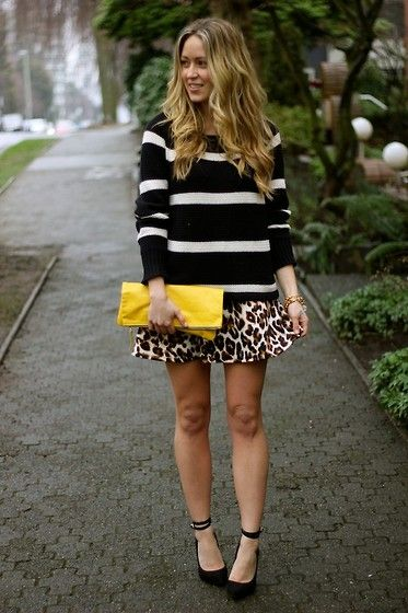 I like the mixed patterns actually... Wild (by Cara M) http://lookbook.nu/look/4699047-wild