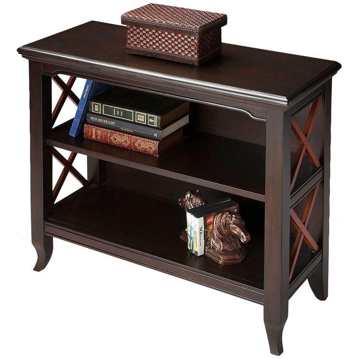Butler Specialty Butler Loft Black & Cherry Newport Low Bookcase
