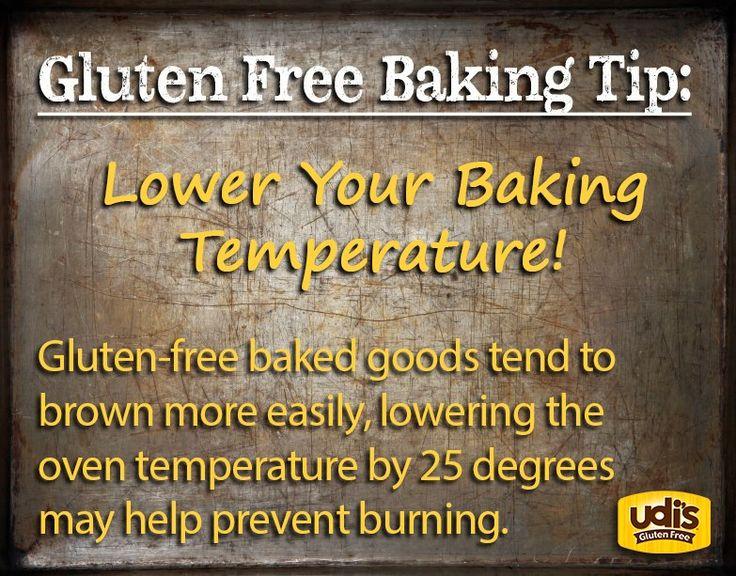 Gluten Free Baking Tip  Source: Udi's Gluten Free Foods (Fb)