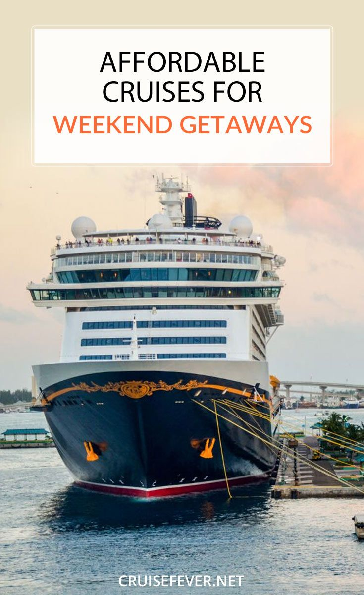 Need a break from everyday life but short on vacation time?  Here are the most affordable cruises for weekend getaways in 2016 and 2017.