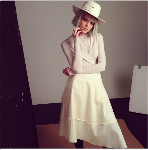 first sneak peek: lin top_wool skirt_wool hat are all from new collection by konsanszky, aw2014