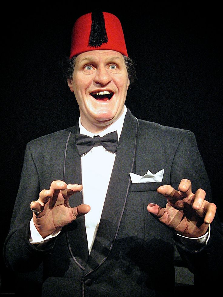 "Tommy Cooper. ""Just like that!"" w"