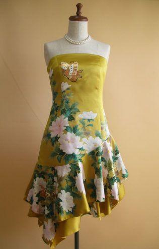 ショートドレス | 着物ドレス 和ドレス 着物リメイク オーダードレス -YOKO YOSHIOKA-