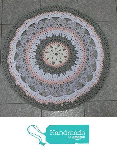 "Alfombra Trapillo ""Mandala"" de Petunia & Co. https://www.amazon.es/dp/B06XS8YBPR/ref=hnd_sw_r_pi_dp_FoR0ybDNM01RA #handmadeatamazon"