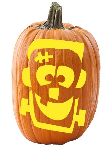 free face stencils for fun halloween pumpkin carving - Halloween Pumpkin Carving Faces