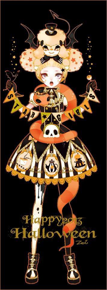 Halloween art halloween foods happy halloween halloween stuff character design girl character concept cosmic art kawaii art aesthetic art