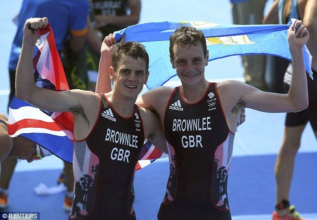 Alistair Brownlee (left) has won Team GB's twentieth gold medal of the Olympics, edging out his younger brother Jonny (right) in the triathlon