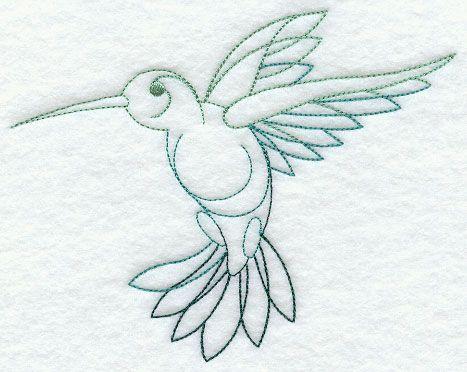 Hummingbird in Flight design (G2292) from www.Emblibrary.com