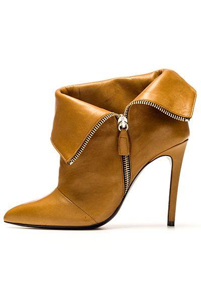 Barbara Bui ~ Tan Leather Bootie Heel w Side Zipper 2013