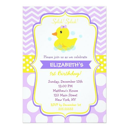 414 best duck birthday party invitations images on pinterest rubber duck birthday party invitations girl stopboris Image collections