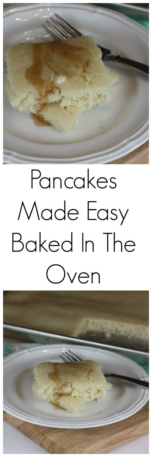Oven Pancakes- Pancakes made easy by baking them in the oven!