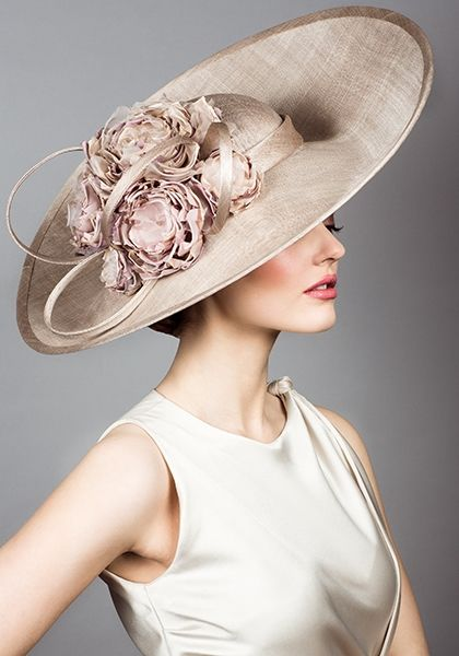 Rachel Trevor Morgan, S/S 2014. Fine straw hat with hand made flowers.