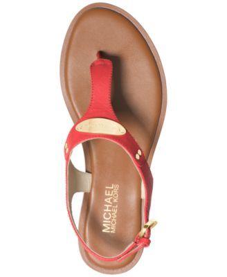 929dd8af284 Michael Michael Kors Mk Plate Flat Thong Sandals - Yellow