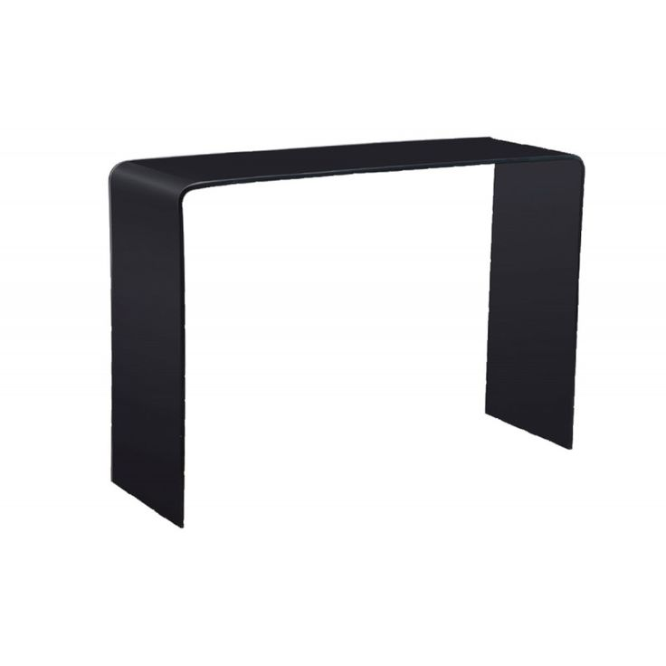 Glass console table Glasser Black 12mm tempered EM723,20
