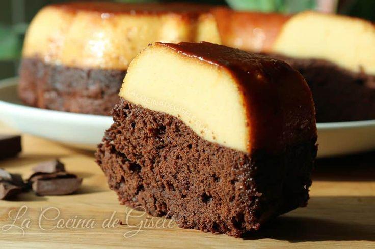 Torta imposible, chocoflan o pastel imposible. Receta en 3 pasos