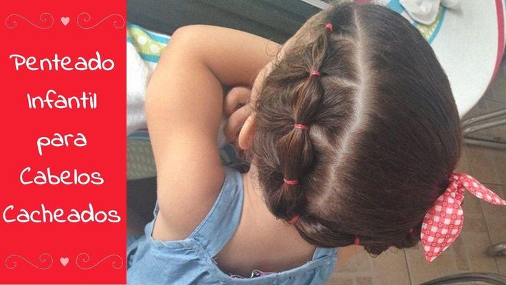 Penteado super fofo para crianças, se adapta a todos os tipos de cabelos.