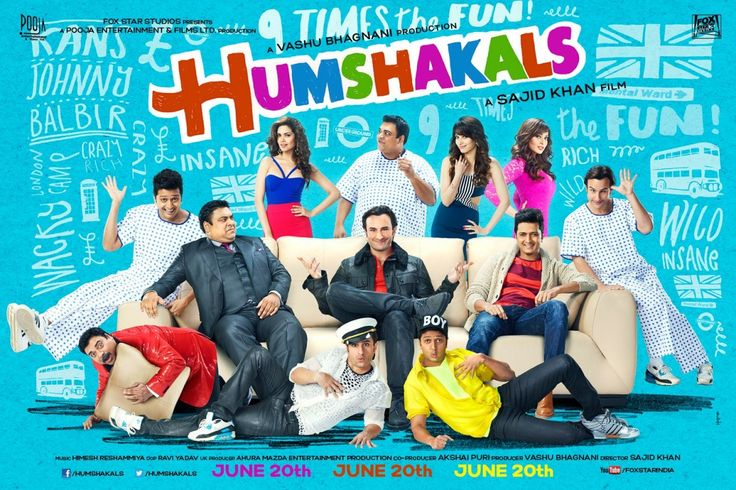 Presenting the official theatrical trailer of Humshakals – the year's biggest comedy, directed by Sajid Khan. Its whackier and its crazier. Starring Saif Ali Khan, Ritiesh Deshmukh, Ram Kapoor with a bevvy of beauties – Bipasha Basu, Tamannah Bhatia and Esha Gupta.