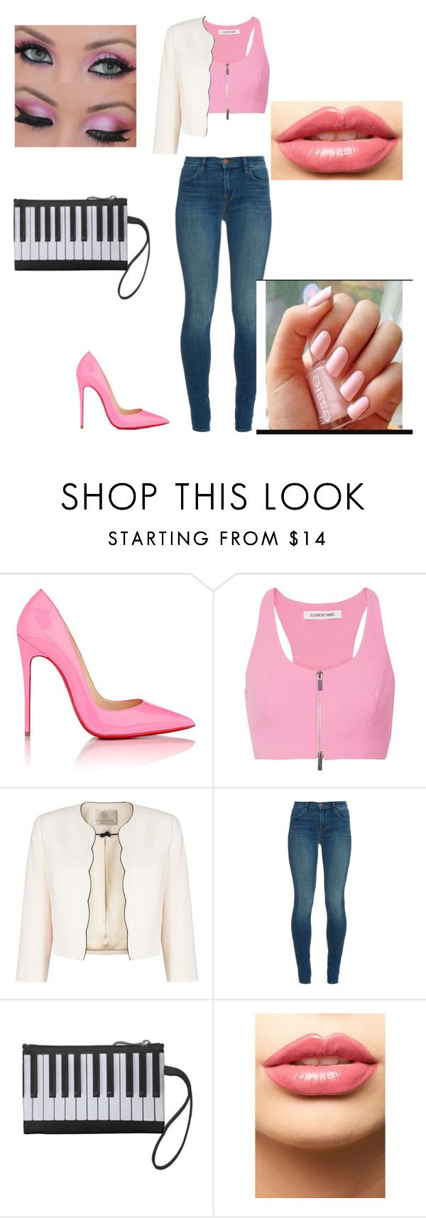 """Kimber Benton inspired Outfit"" by angielagutier ❤ liked on Polyvore featuring beauty, Christian Louboutin, Elizabeth and James, Jacques Vert, J Brand, LASplash and modern"