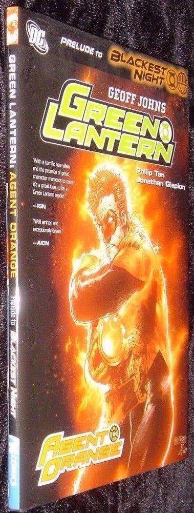 Prelude to Blackest Night Green Lantern Agent Orange DC Comics Hardcover New