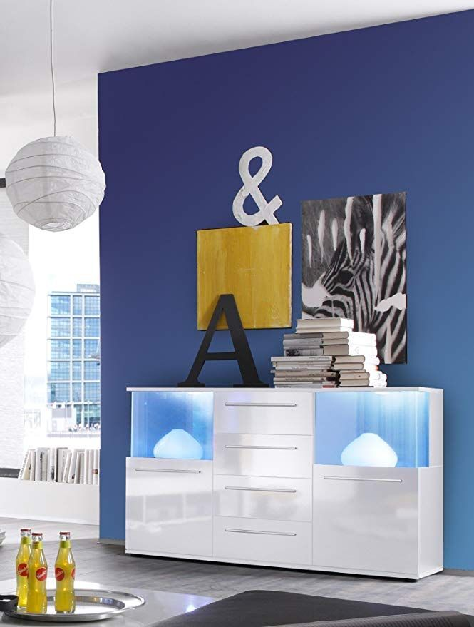 trendteam smart living Wohnzimmer Kommode Sideboard Schrank Punch, 141 x 82 x 40 …