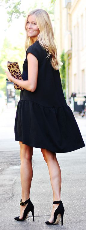 Black Breezy Summer Dress                                                                             Source