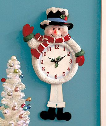 Light & Sound Snowman Clock | LTD Commodities  I WANT ONE!