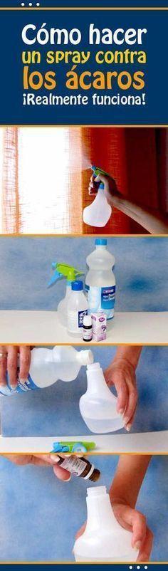 Cómo hacer un spray contra los ácaros. ¡Realmente funciona! #sprey #casero #natural #antiacaros #acarosdepolvo #DIY #eliminar