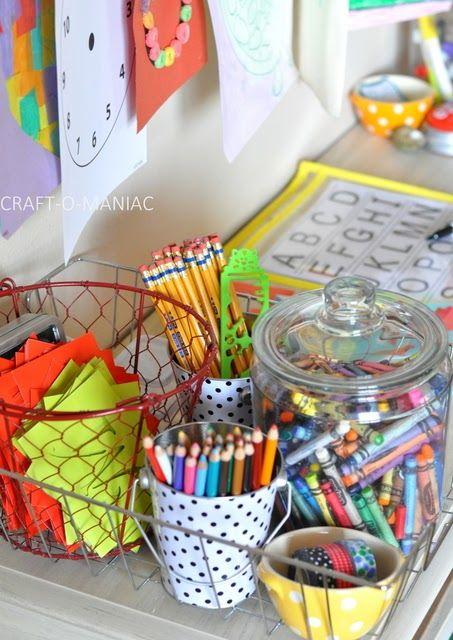 DIY Kids Homework Station #homeworkstations #kidspaces #DIY