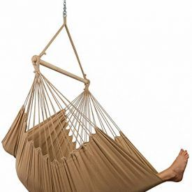 """""""Enjoy a roomy, blissful relaxation experience with this large & soft jumbo hammock chair!"""" Lay Back & Relax Completely Stretch out and feel weightless as you relax in this extra-large hammock chair… it practically feels like laying on a cloud. You can hang it indoor or outdoor on the patio, deck or in the yard, […]"""