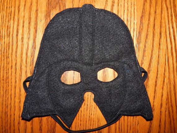 Star Wars - Darth Vader Felt Mask or Costume Accessory    This listing is for 1 of the pictured masks. It is designed not to cover your nose