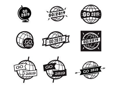 Vintage Globe Logos | Designed by: Luke Anspach | lukeanspach.com | dribbble.com/lukeanspach | @lukeanspach