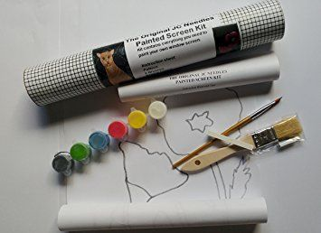 JC Needles Screen Painting Kit Complete kit to paint your own window screen.