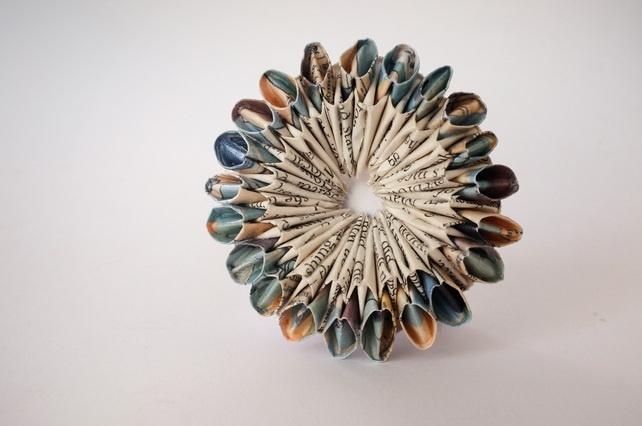 Origami Diyad Brooch - 'Bobbin Blue'  £35.00