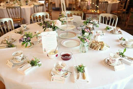Country afternoon tea wedding  Really perfect for a tea party any time of the year!