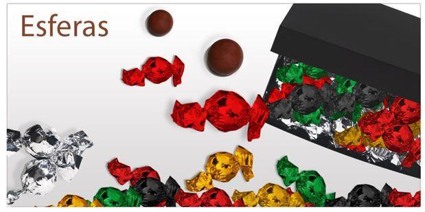 ¡Esferas de Chocolate!  Diferentes combinaciones absolutamente deliciosas.  ¡Un sabor y cremosidad sin igual! http://www.mysweets4u.com/es/?o=2,5,44,46,0,0