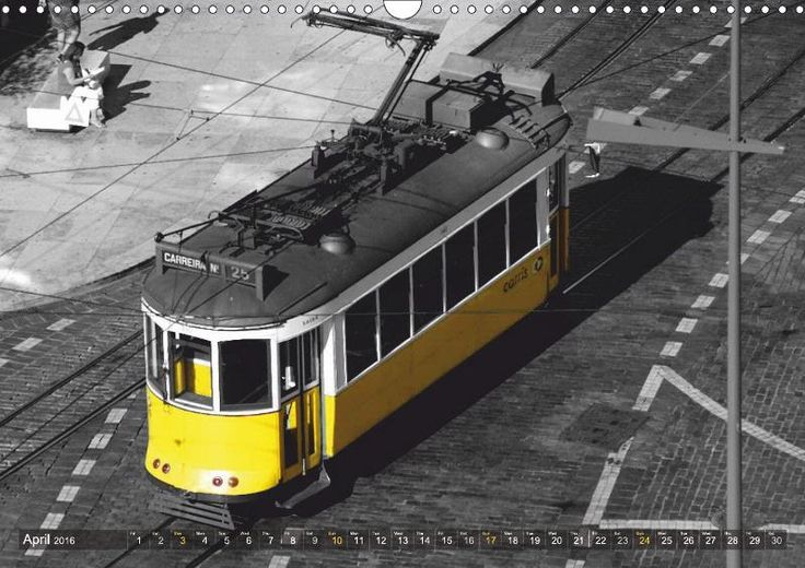 Eletricos - The bright yellow spots of Lisbon - CALVENDO calendar by Thomas Erbacher: The historic trams are one of Lisbon's most important tourist attractions. These antique trolleys wind their way through the older neighborhoods of Lisbon such as the Alfama. In use for many decades, they carry to this day thousands of locals and tourists. Bright yellow and very charming.