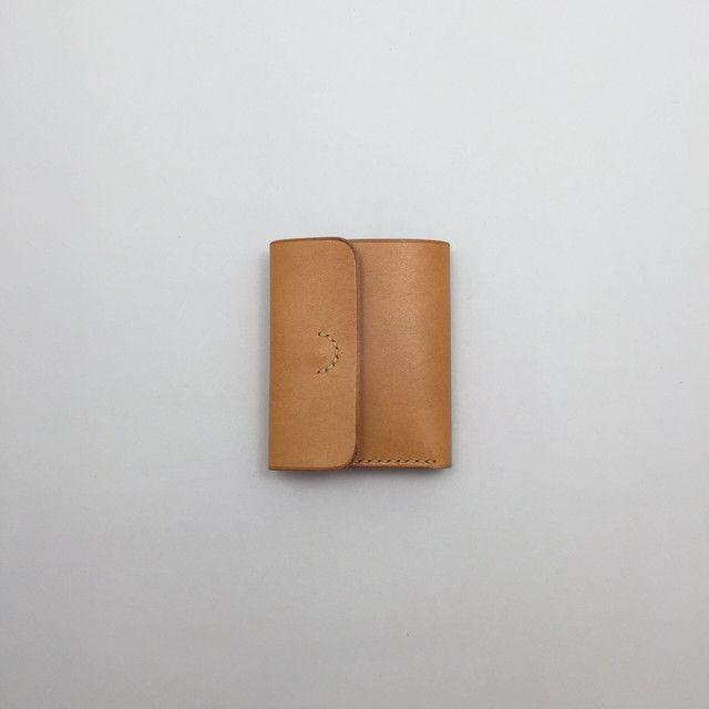 お札を折らずに入れれる小さい財布 | encyoku leahter making