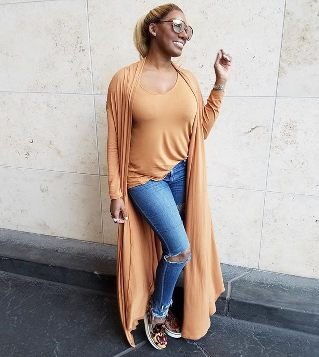 Rockin my Nene Leakes Collection Glam Maxi Cardigan! Grab 1 at HSN.COM size xsmall to 3x. Petite & regular length available! Tons of colors to choose from. Grab a matching tank or mix & match❤️ only a few remain #shoesstella