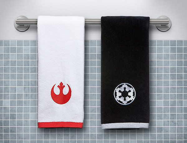 Star Wars Hand Towel Set   Imperial  amp  Rebel. 1000  ideas about Star Wars Bathroom on Pinterest   Geek room