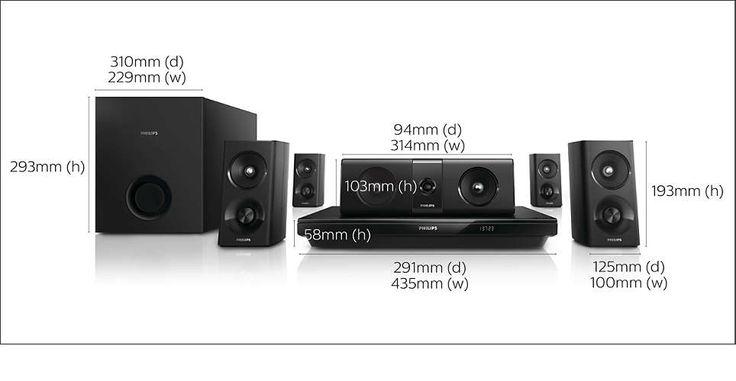 HT Philips HTB3520X/78 5.1 Blu-ray Player 3D,Bluetooth, NFC, Cabo HDMI R$ 719,10