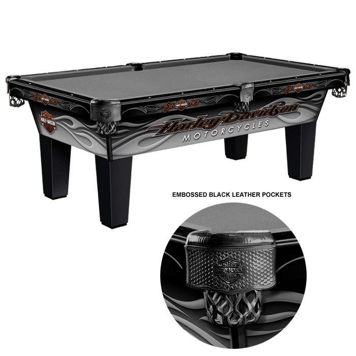 Harley-Davidson® Radical Flames Pool Table 8 Ft.