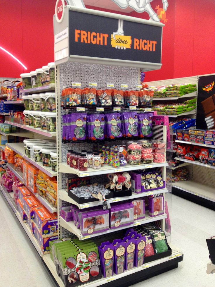 This week target is offering 30% off cartwheel on halloween candy bags priced $9.99 or $15.99. Target Halloween Candy End Cap 2013 Target Exclusive Target Halloween Search Engine Marketing Retro Halloween