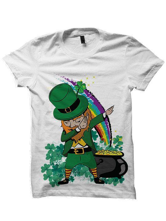 St Patricks Day Shirt Dabbin' Leprechaun Shirt Leprechaun Costume Funny Shirt Irish Gifts Ladies Tops Mens Tees Party Shirt #Dab Plus Size