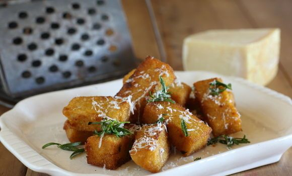 Maggie Beer's Crispy Polenta Bites with Rosemary and Parmesan