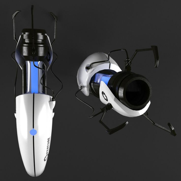 portal weapon 3d model max obj mtl 2