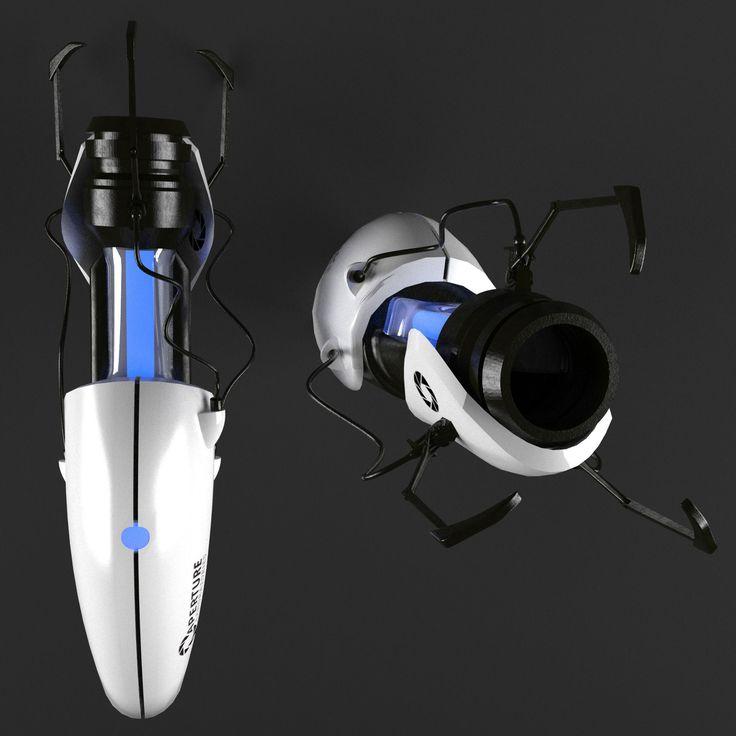 portal weapon 3d model max obj mtl 2