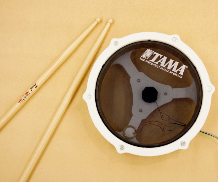 E-drum with small 3D printer and thick paper